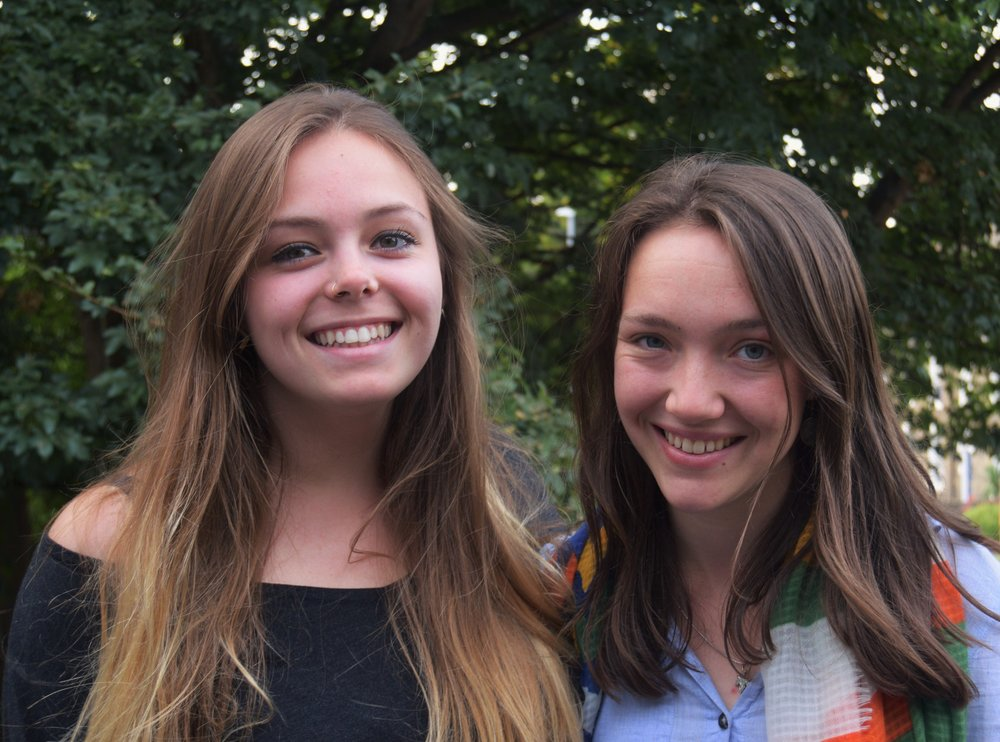 Tour managers Louisa Dales (left) and Josie Wastell (right)