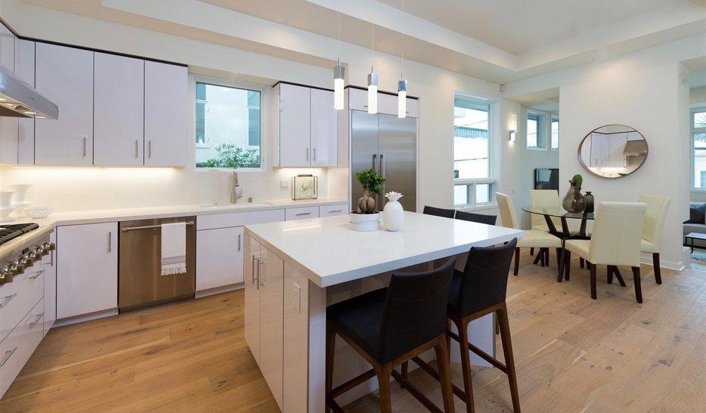 Grawski modern all white kitchen