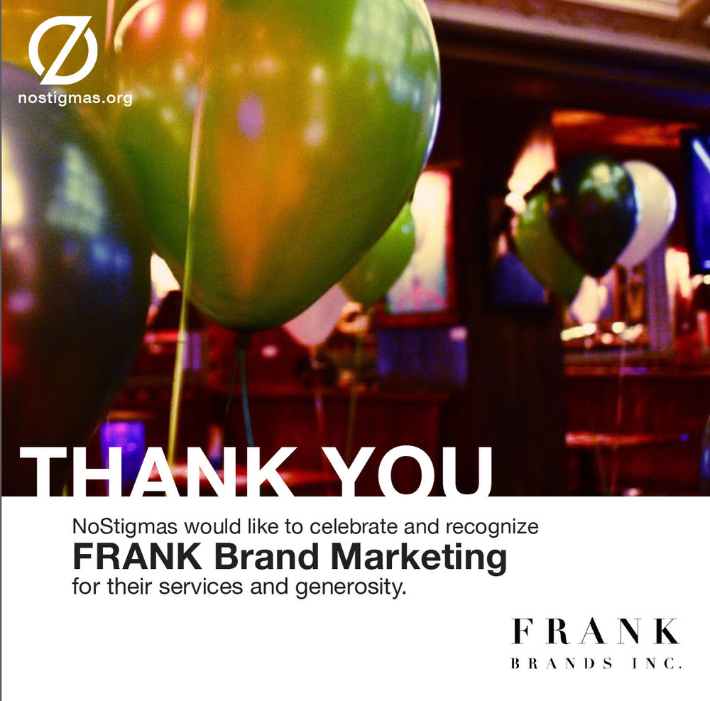We're so grateful for FRANK Brands Inc. and all the magic they've made for #CelebrateLife 2014! nostigmas.org/events