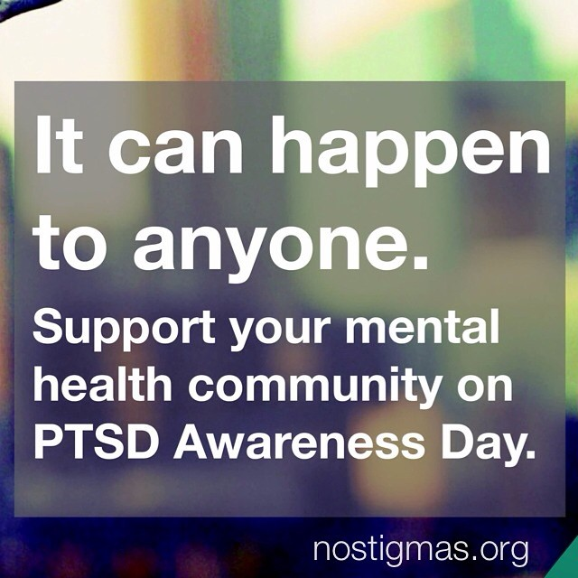PTSD can affect anyone, but no one has to face it alone. #notalone #mentalhealth #PTSDawarenessday