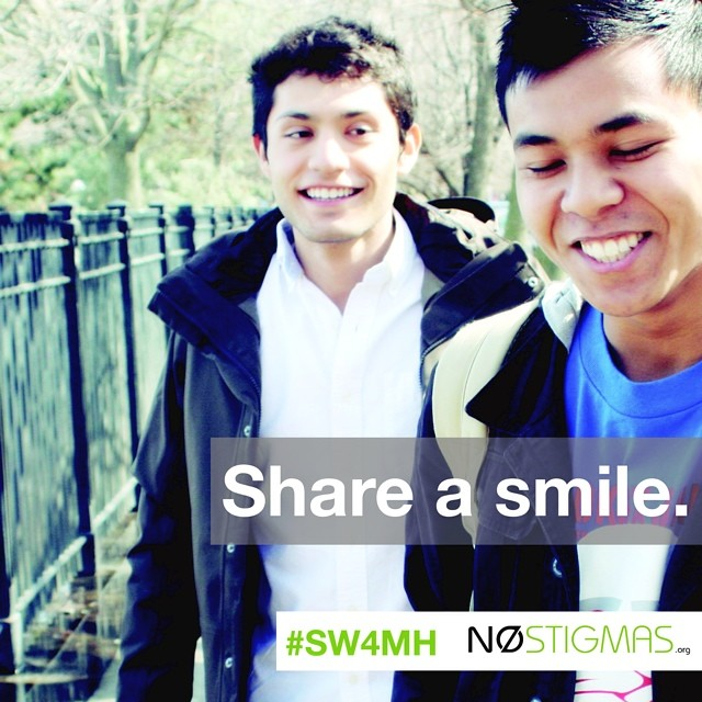 Your support helps us share more smiles. Thank you!  http://nostigmas.org/sw4mh  #sw4mh #mentalhealth #suicideprevention