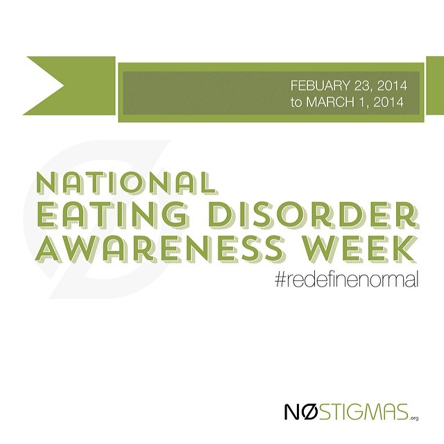 Educate yourself about eating disorders and help raise awareness! http://ow.ly/3hxY1A #NEDAwareness #RedefineNormal