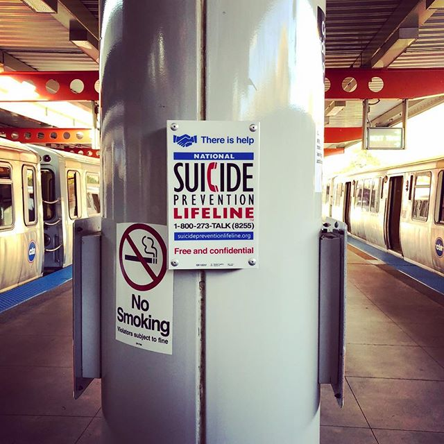 Loved seeing this sign for @800273talk on the orange line platform at Midway. Bravo @chicagocta 👏  If you or someone you know is in crisis or considering #suicide please call the Lifeline anytime 24/7/365 for free confidential support. 💚 . . . . . #chicagogram #suicideprevention #mentalhealth #crisisintervention #lifeline #seeninchicago #trainstation #nostigmas #lifesaver #youarenotalone #anxiety #suicide #peersupport #selfcare #suicidepreventionmonth #betheone #itsoktotalk #mentalhealthmatters #depression #selfhate #worthless #suicidal #depressed #womenshealth #mentaldisorders #ptsd #bipolar #stigma #mentalhealthawareness #suicidalthoughts