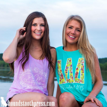 Phi Mu Next Level Racerback Tank & Tri Delt Floral Recruitment Tank