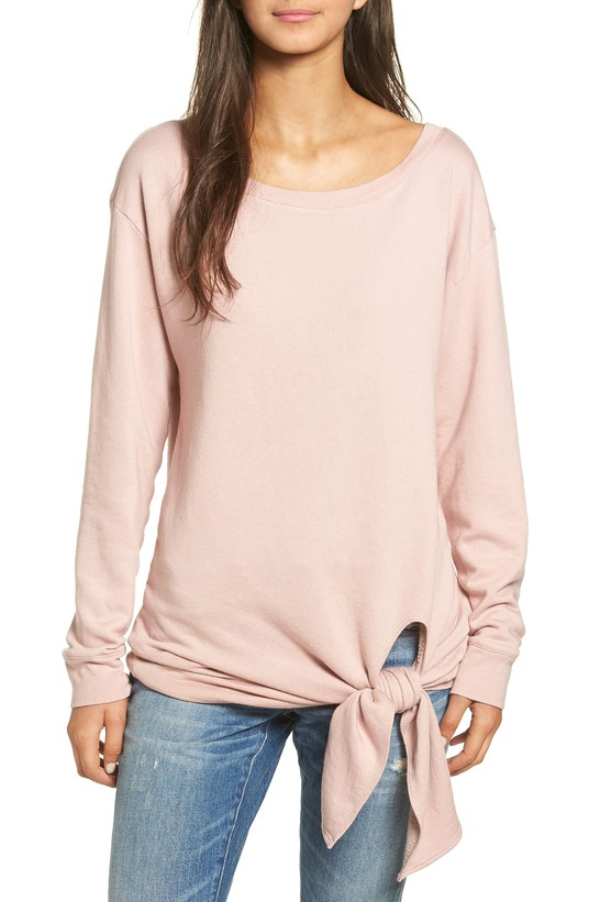 Hinge Tie Front Pullover