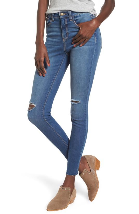 Ribbed Skinny Jeans