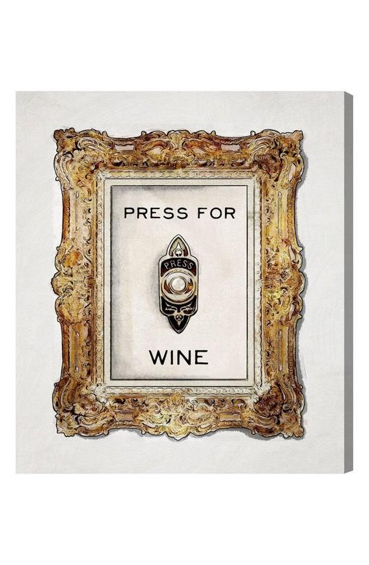 Press for Wine Canvas