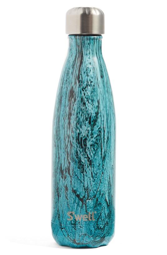 Teal Wood Bottle