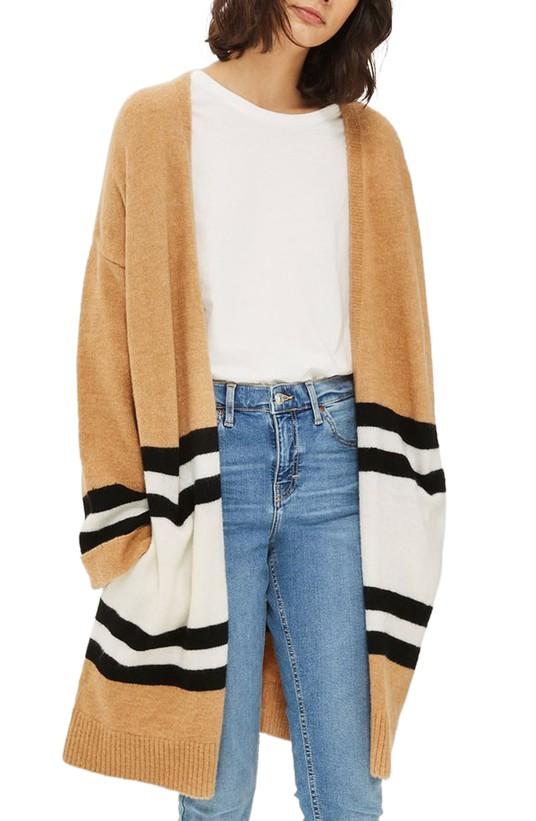 Stripe Colorblock Cardigan