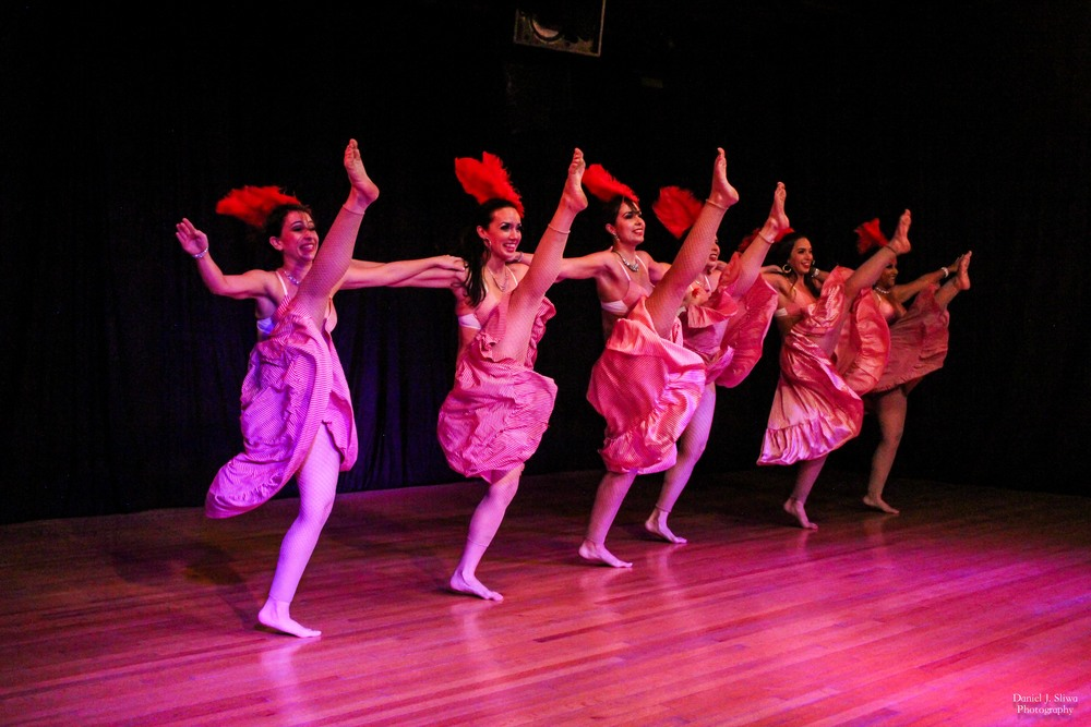 "Dancers: Angela, Aubre, Cathy, Stefanie, Ariel, and Olu performing ""Cancan"""