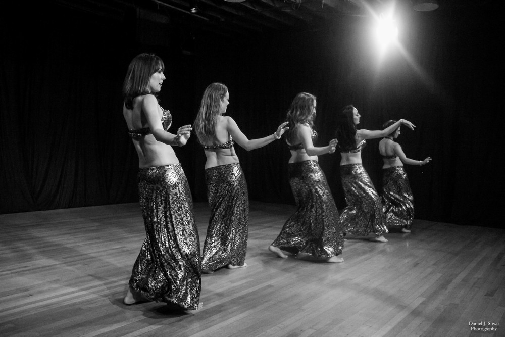 "Dancers: Cathy, Casey, Stefanie, Aubre, and Angela performing ""Zey al Howa"""