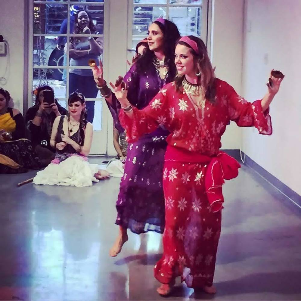 Qabila performing Binat Mazin style ghawazee at Taste of Belly Dance. Photo by Aubre Hill.