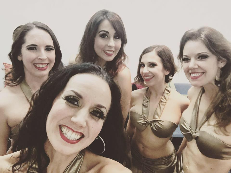 Lumina ladies backstage and ready to perform at Taste of Belly Dance. Photo by Aubre Hill.