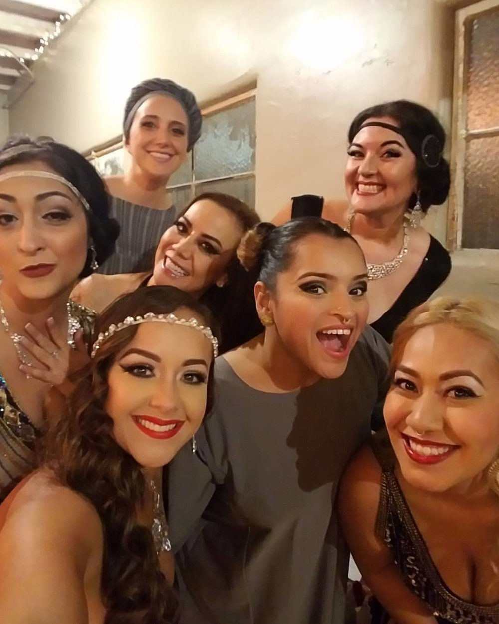 Dancer selfies backstage~ Alia, Rita, May, Shana, Georgette, Jenn, Belen