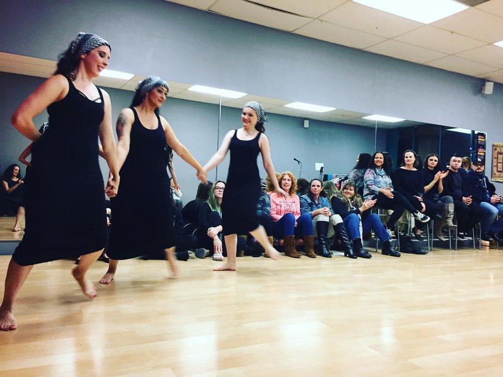 The Qabila Folkdance Company shared an energetic Lebanese debke!