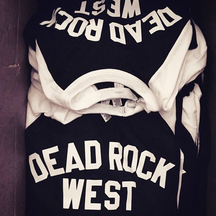 The popular Dead Rock West baseball tee