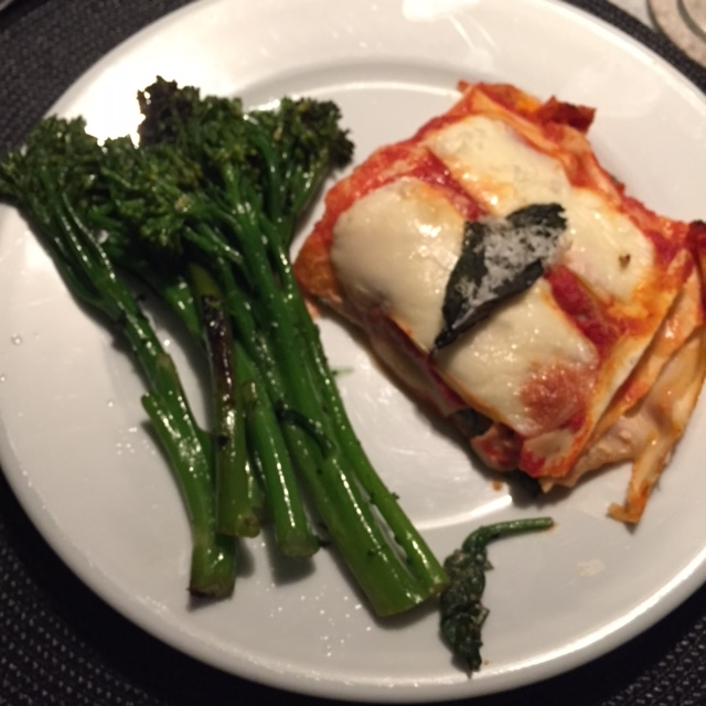 Vegetarian lasagna with homemade pasta and homemade sauce, courtesy of my multi-talented friend  Jeff .