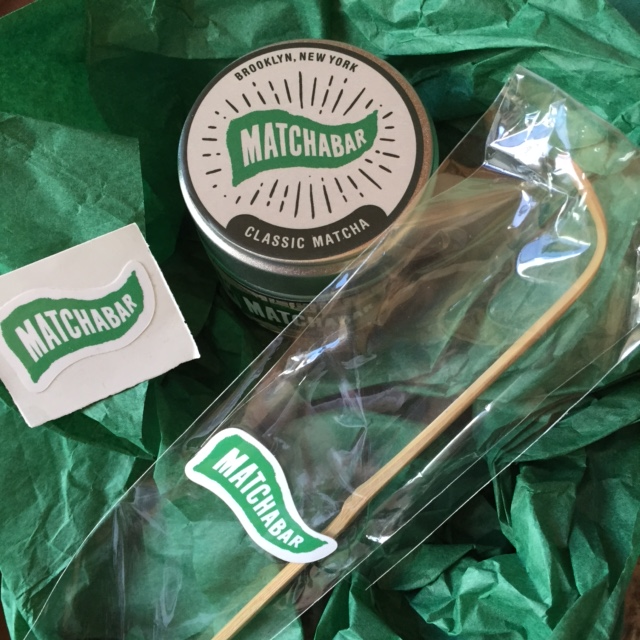 Matcha, bamboo scoop + sticker from MatchaBar NYC