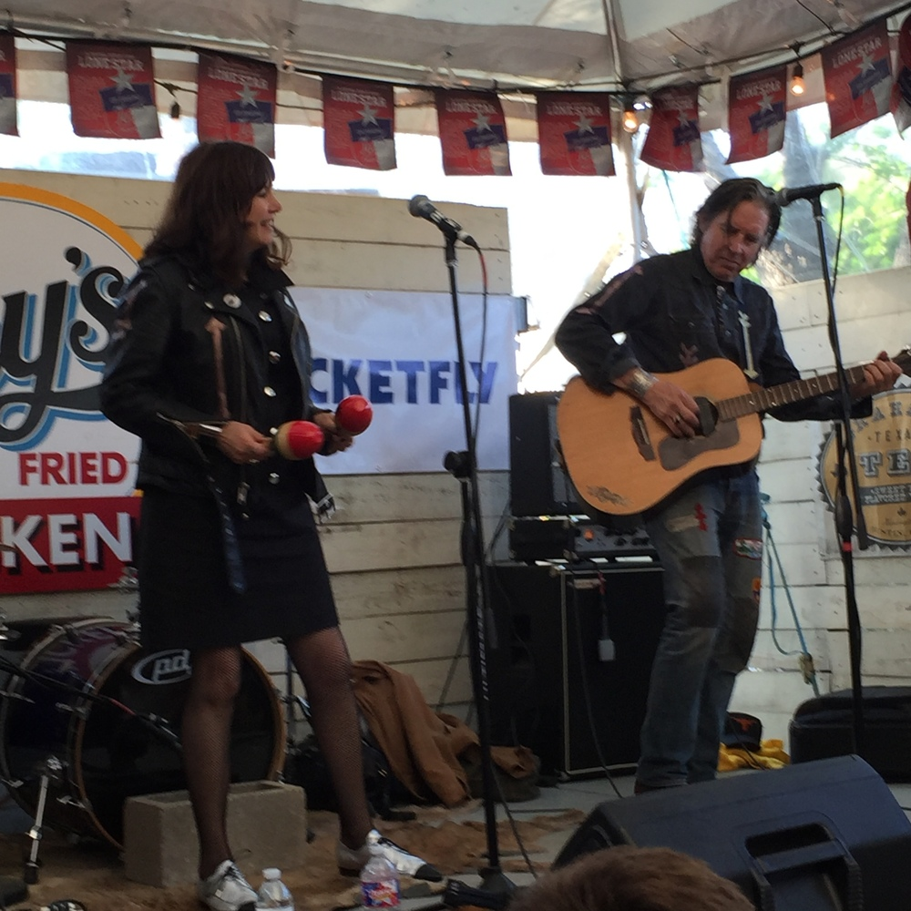 Cindy Wasserman & John Doe performing at SXSW - two key members of the Arrow Corps