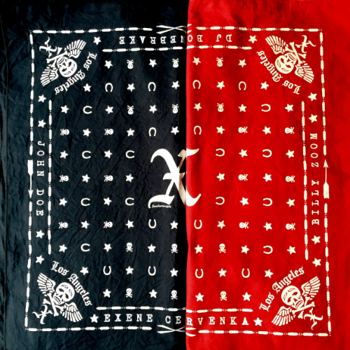 X bandana designed by Featherweight Studio