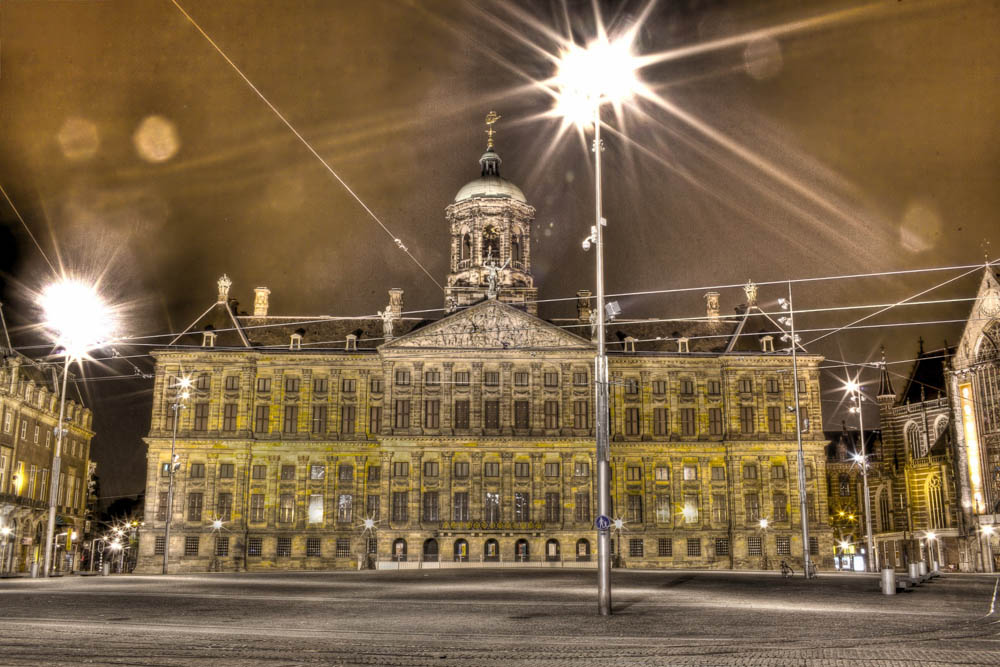 Royal Palace Dam Square Amsterdam HDR