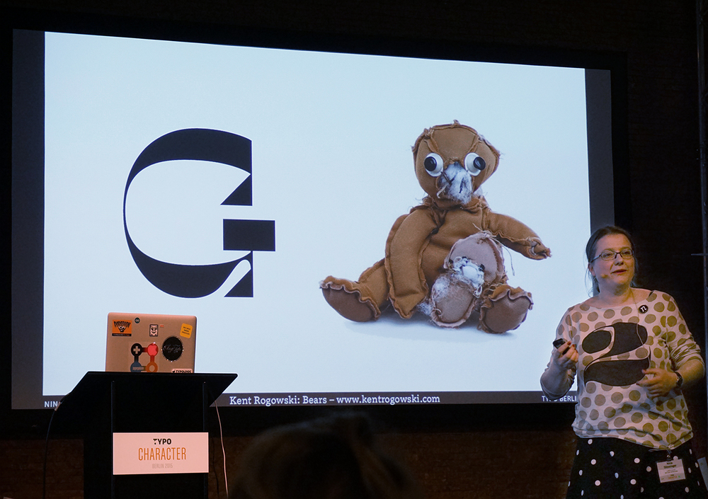 Nina Stössinger comparing her reverse contrast type to an inside-out stuffed animal