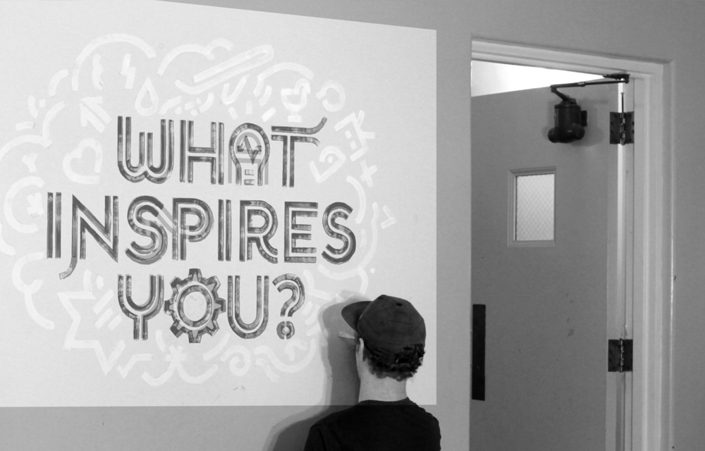 A small mural I paintedusing a projector