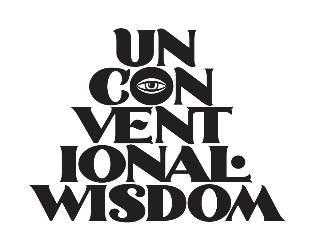 Unconventional Wisdom-Lettering