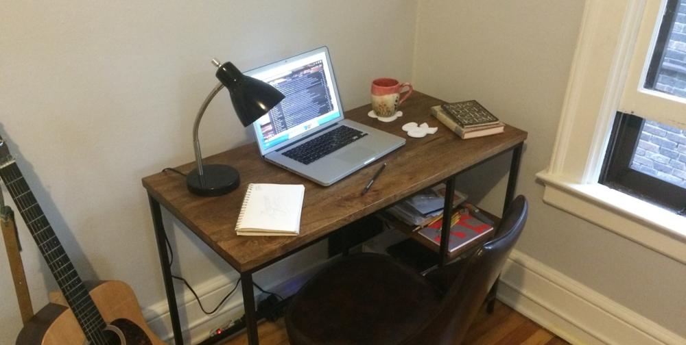 Setting up a lettering studio efdot studio for Studio apartment setup