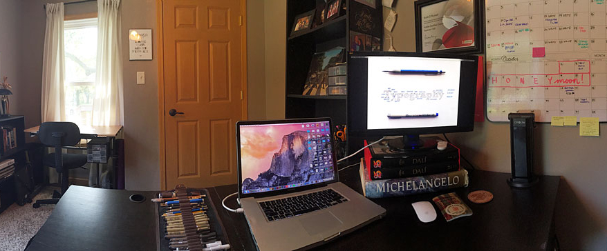 Scotty Russell's home office setup