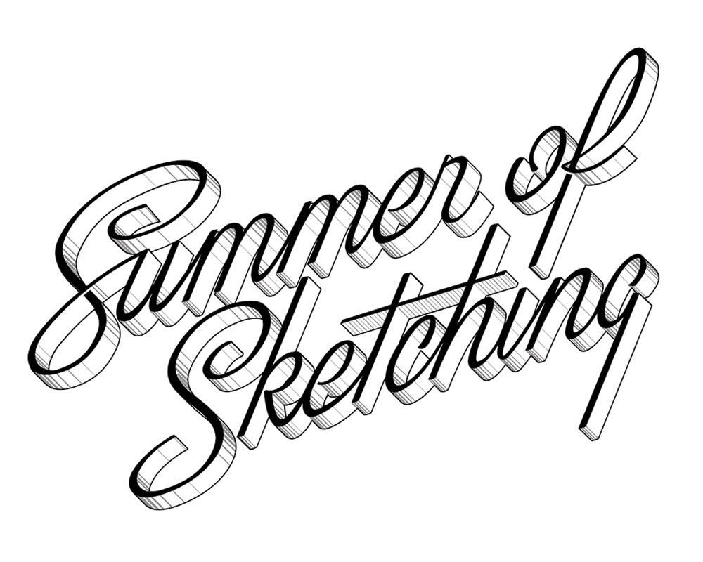Summer of Sketching - Lettering Series
