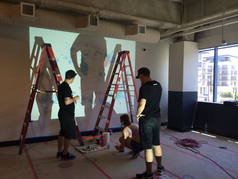 Going big how to transfer lettering to a wall efdot studio for Best projector for mural painting