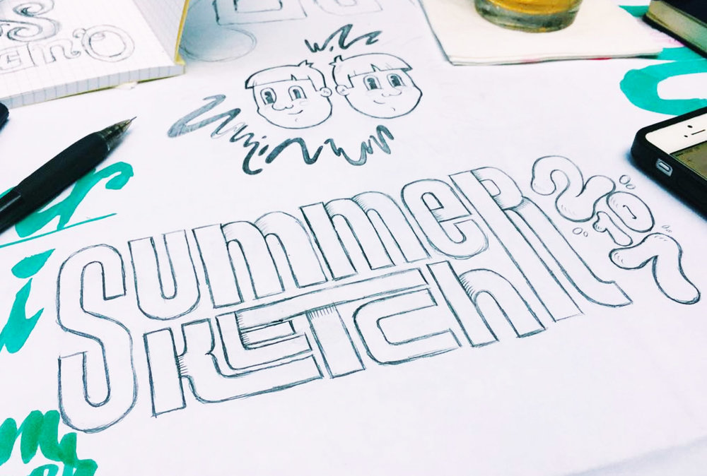 Lettering by Keegan Sanford ( @keegansanford ) at the NYC meetup