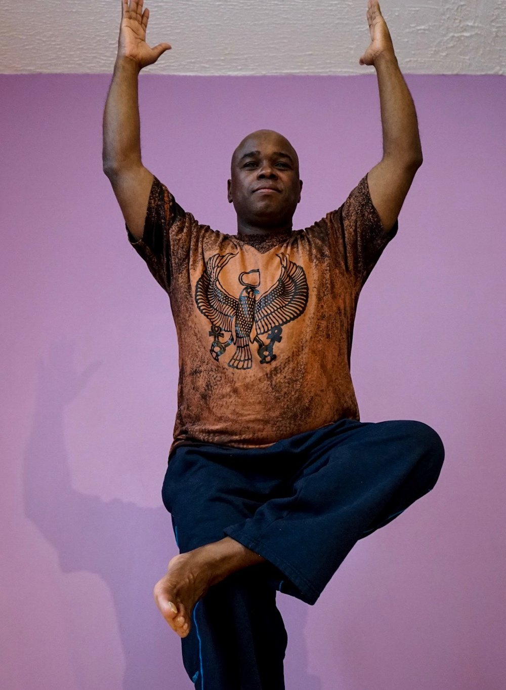 Perry Daniels Perry began his yoga practice in 2007. Originally just experimenting, it didn't take him long to identify the spiritual, mental and physical benefits associated with a regular practice. Yoga has now become a part of his routine and, has aided him in becoming an energetically calm yogi. Perry has an extensive coaching background, which enables him to challenge students to enhance their practice to new levels. Simultaneously, his yoga practice has shown him that it is perfectly okay, to be where you currently are. Some classes will have high energy and high impact, others will be subdued and very laid back. The one constant is that they all will flow.