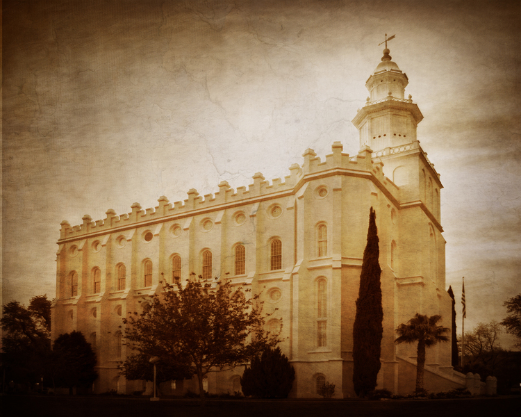 St. George Utah Temple, From South,Michael Whiffen