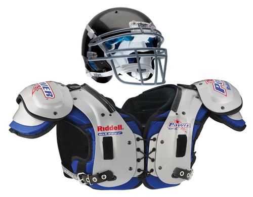 Image result for football shoulder pads and helmet