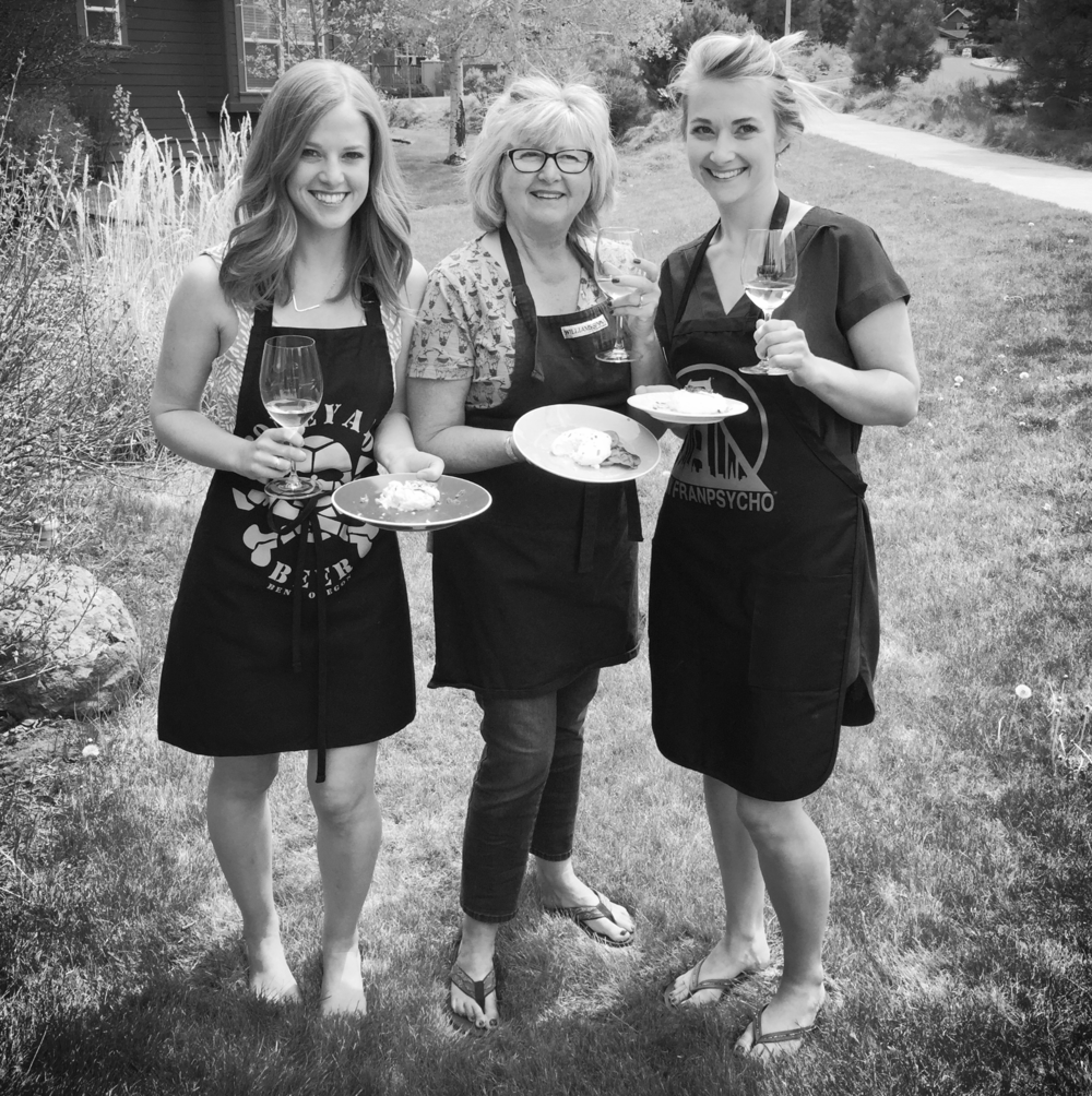My mom, sister and I after taking an at-home cheese making class in Bend.