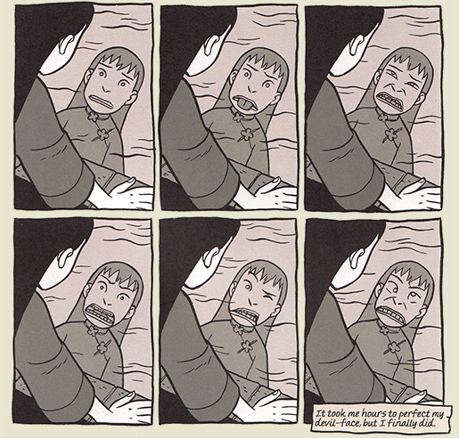 It's harder to keep your eyes crossed than you might think.   Copyright Gene Luen Yang
