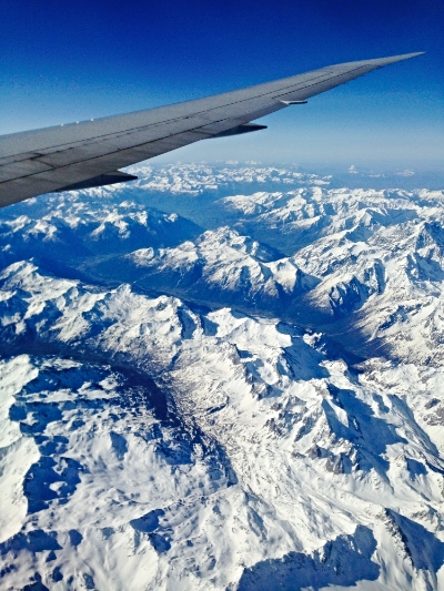 Morning over the Alps