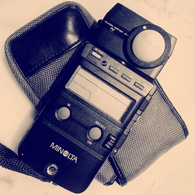 I think it's time to let my Minolta Flash Meter IV go...there was a time when you you couldn't take a photo without one.