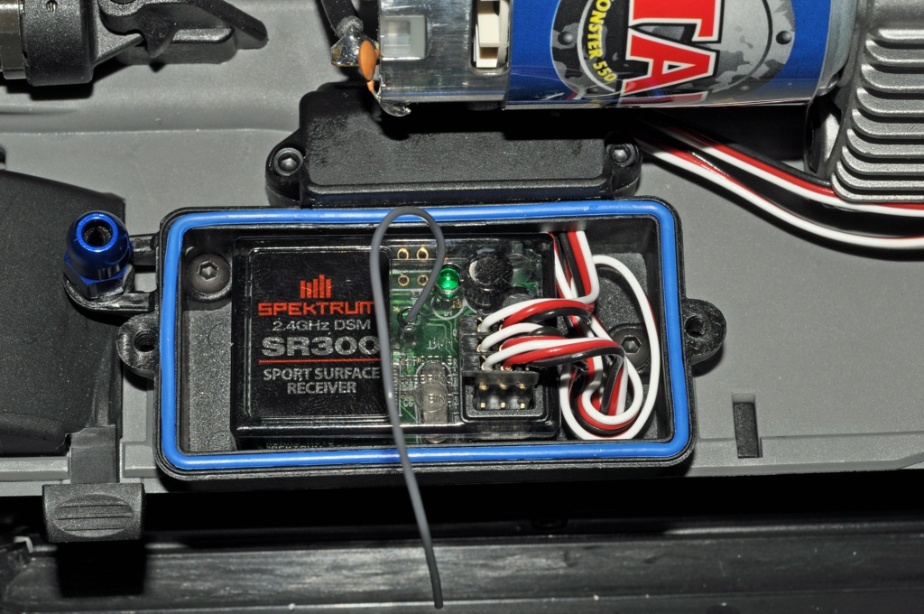 3 - Remove Traxxas receiver and replace with Spektrum receiver