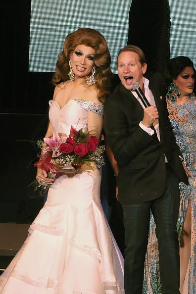 with Carson Kressley after being announced 'First Runner-Up'