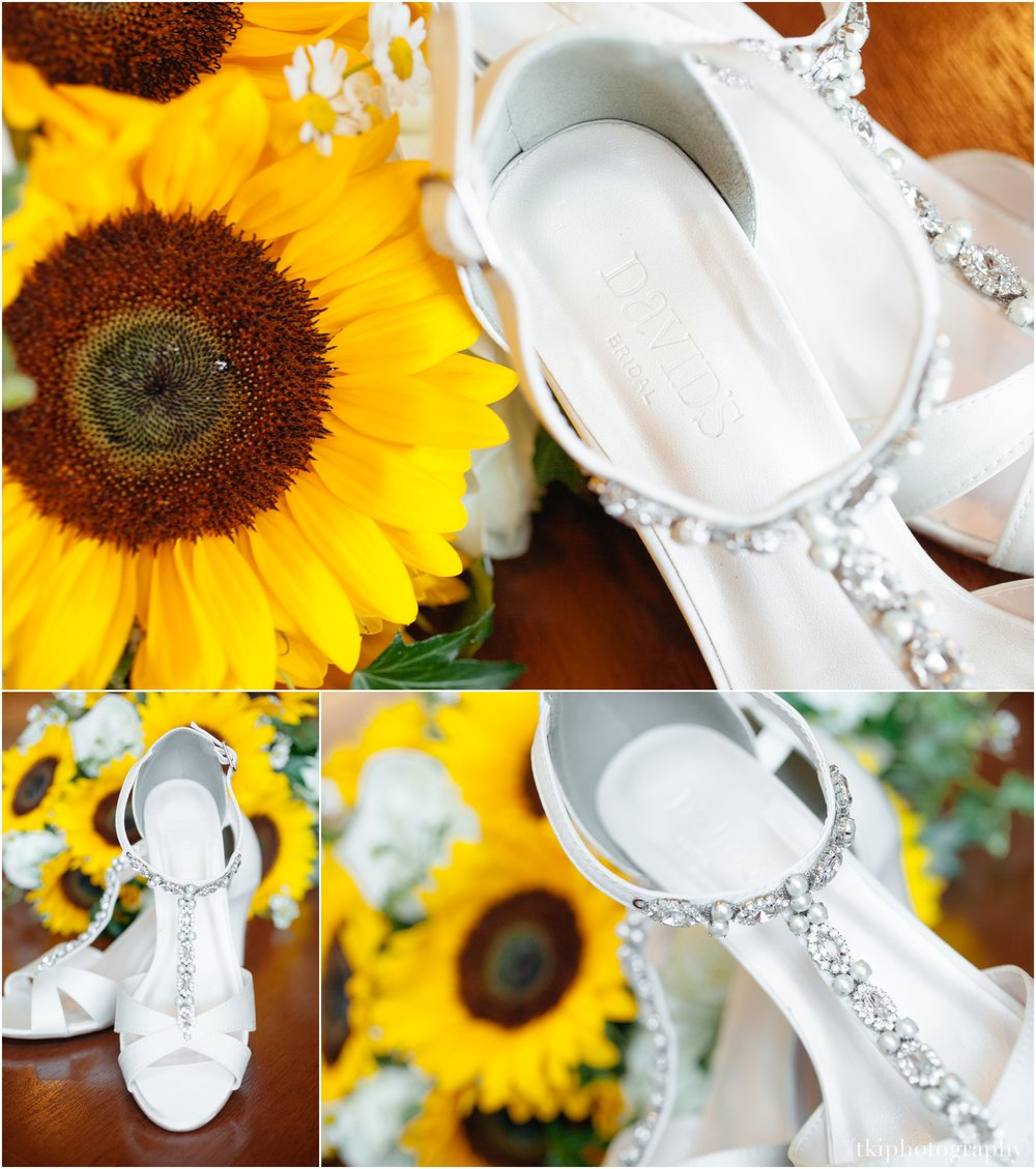 David's Bridal Wedding Shoe Detail
