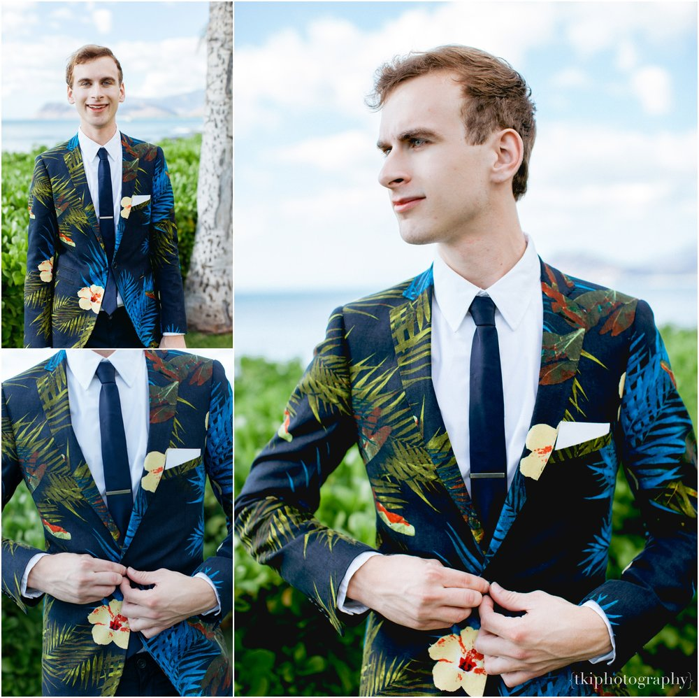 A one of a kind suit jacket option that best suit the groom on this special day.  Minutes before the ceremony began, we captured details and portraits of Alex
