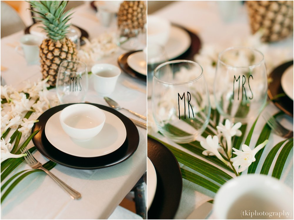 Tropical Table settings