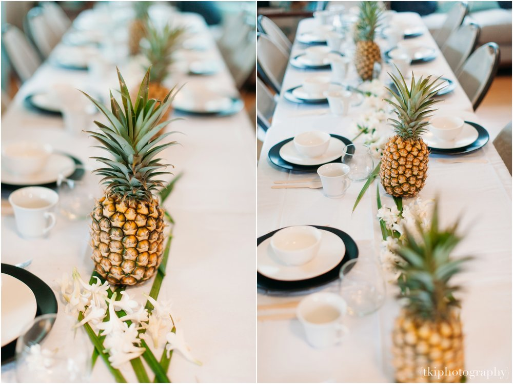 Pineapple Centerpiece for Reception