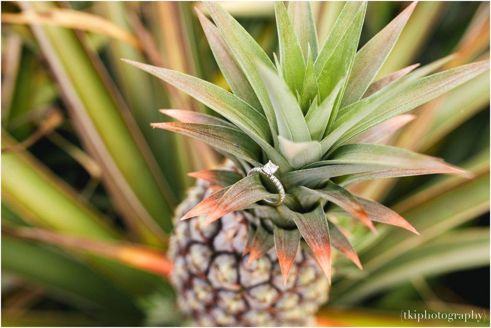 Wedding Ring Detail Shot Pineapple