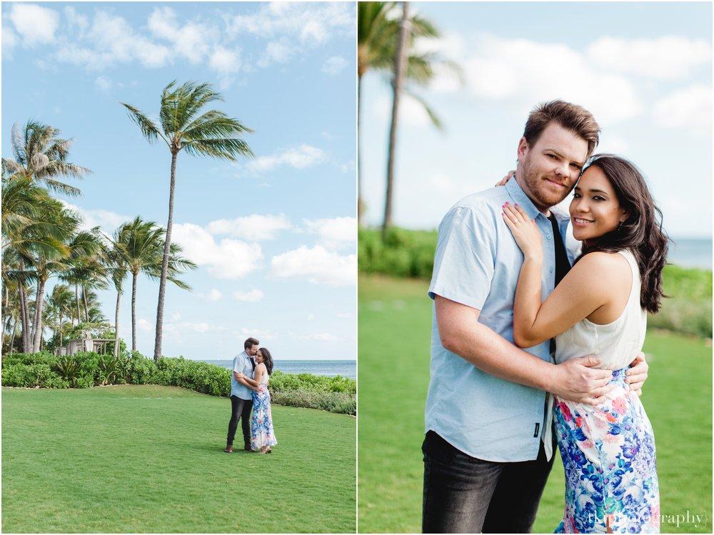Couples portrait session in paradise