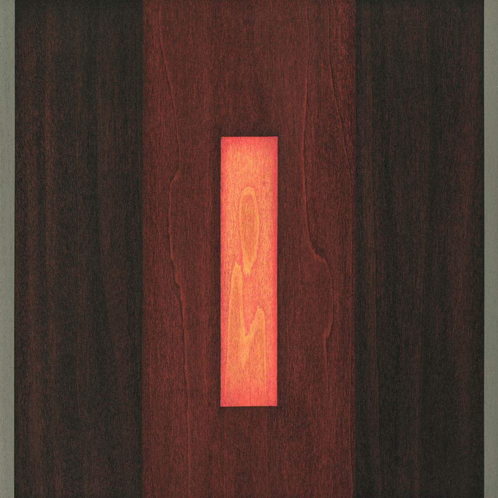 "Dove      Gouache / Watercolor / Wood 9"" x 9""   x 1"" 2005"