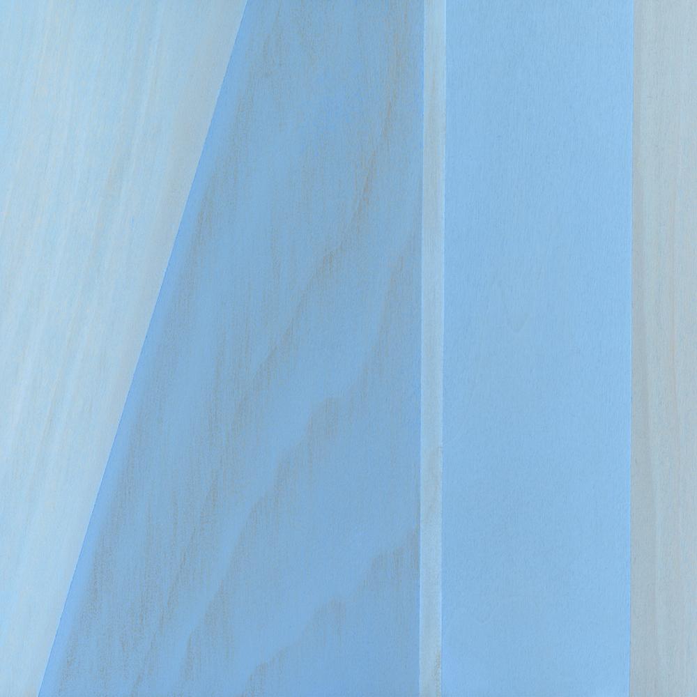 """Mountain      Gouache / Wood 8.5"""" x 8.5"""" x 1"""" 2006"""